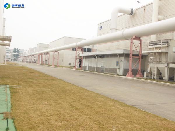化工厂区废气收集管道