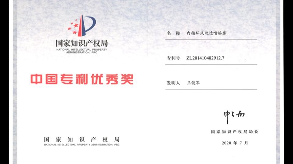 喜讯-第二十一届中国专利优秀奖